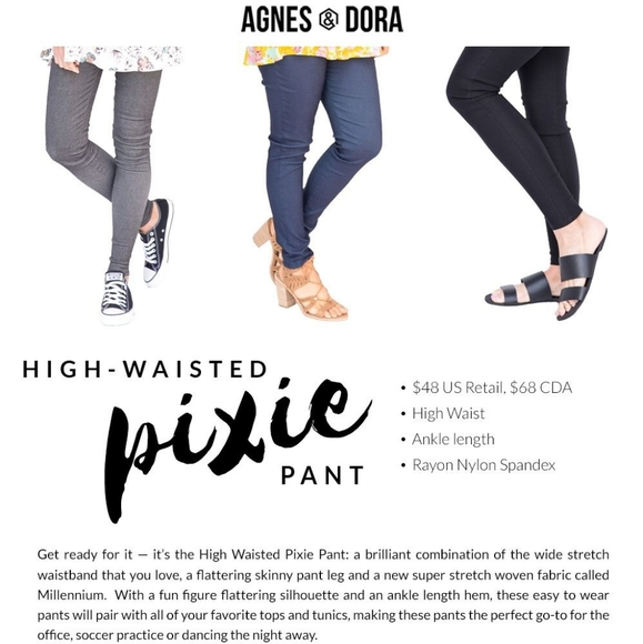 Agnes & Dora Pants - Agnes and Dora High Wasted Pixie Pants